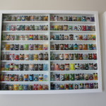 Built custom display cases for collection of figuirines