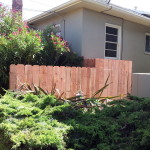 Tore down and rebuilt portion of owner's fence on their side yard.