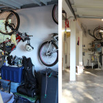 Before & After: Designed, installed and organized new storage system for 2 car garage.