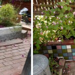 Before & After: a client liked the garden wall mosaic we made for her so much she had us do another!