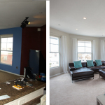 Before & After: Chose paint colors, new carpet and lighting. Repainted entire unit, installed new lights throughout, oversaw new carpet installation and staging in preparation of unit being put on the market.
