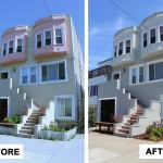Before & After: Chose exterior paint colors, oversaw crew of painters and performed minor landscaping in preparation of first floor unit being put on the market.