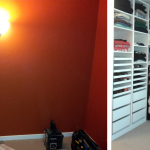Before & After: Designed, installed and organized new closet system to convert extra bedroom into dressing room.