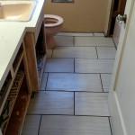 Installed new tile floor in bathroom