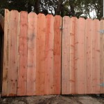 Constructed a quick 6ft fence section and gate to help keep a homeowner's dog safely in the backyard