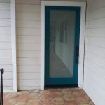 Assisted client in selecting new door, paint color and door hardware. Oversaw door installation.