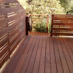 Refinished a deck and fence for a client