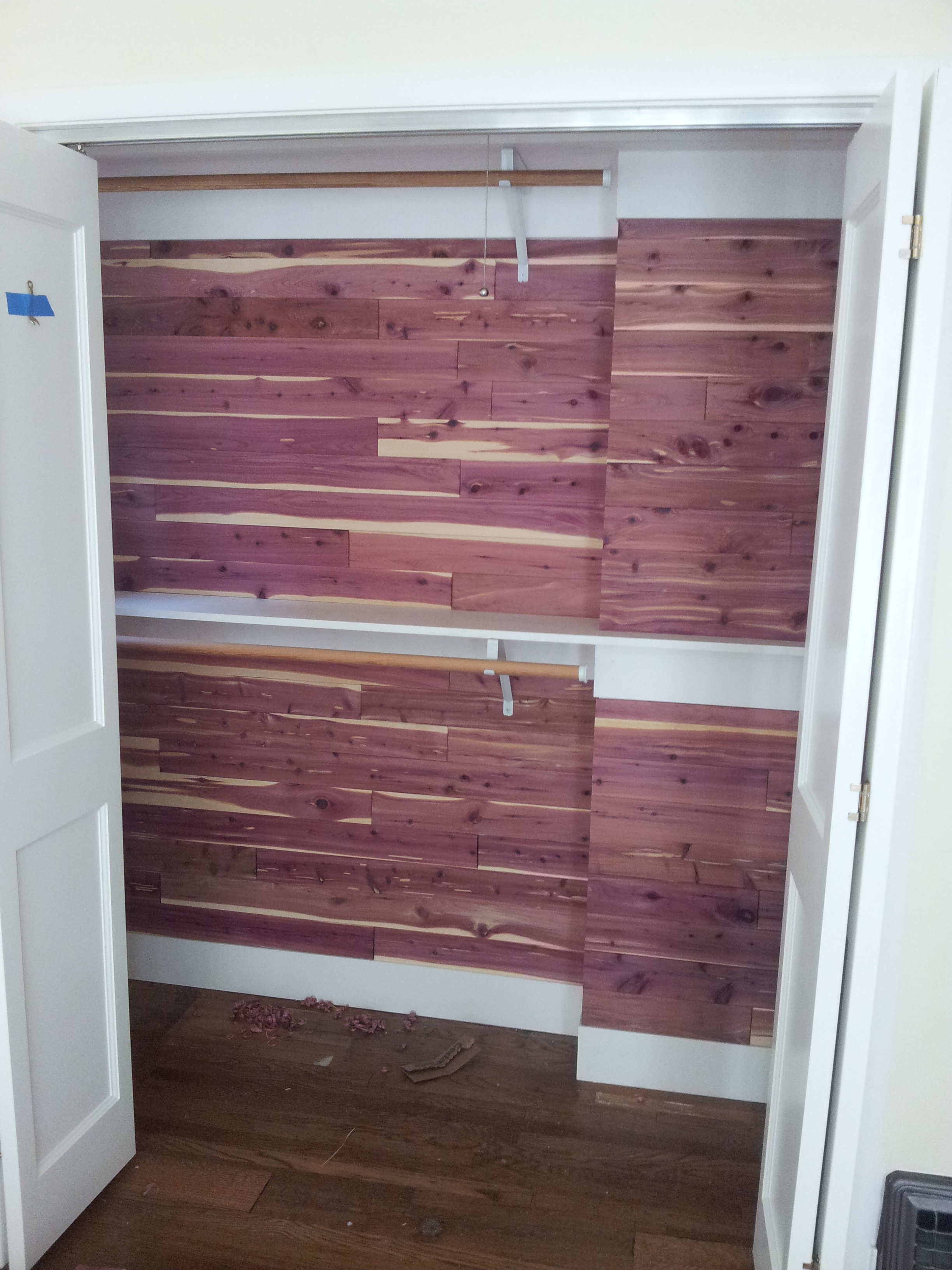 CedarSafe Aromatic Eastern Red Cedar Closet Liner Tongue And Groove Planks,  35 Sq. Ft. 20140812_151323