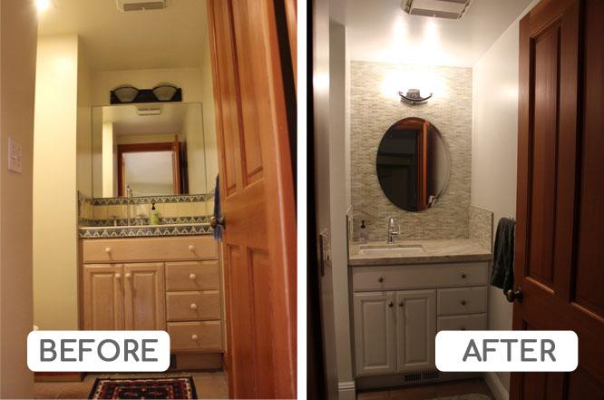 Powder room transformation