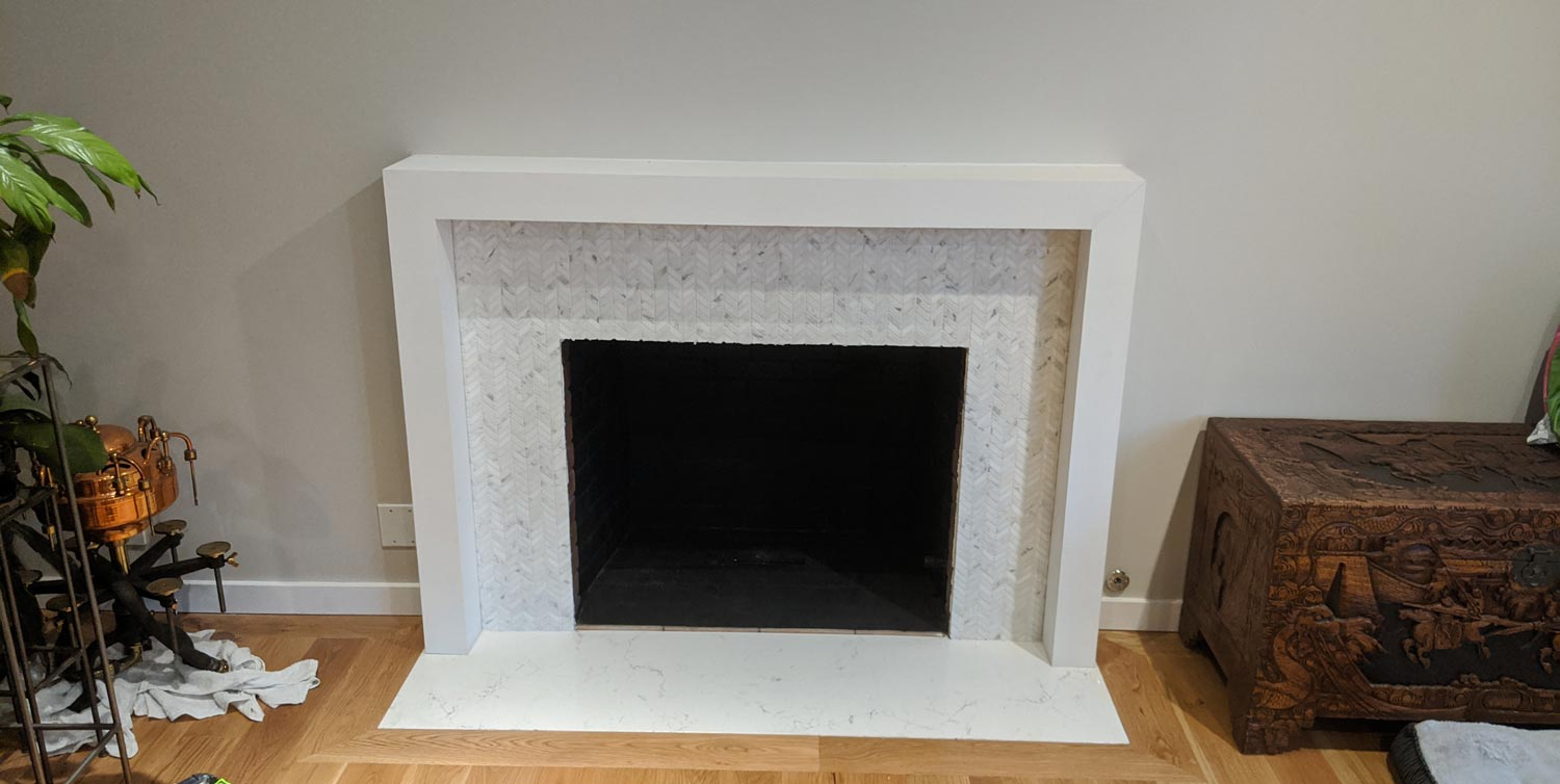 Fireplace with new mantel