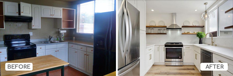 U-shaped kitchen renovation