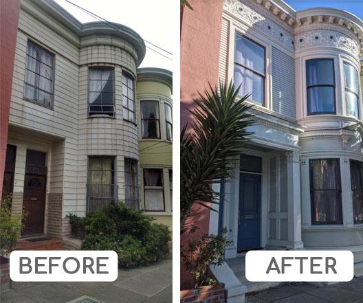 Victorian facade restoration