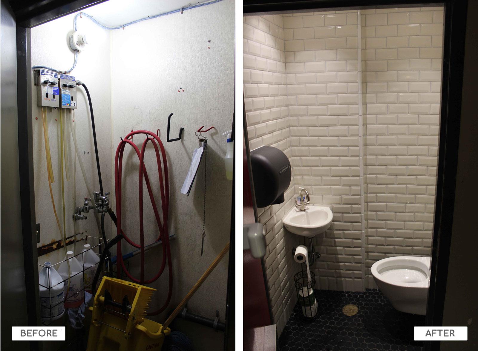 Closet convert to bathroom