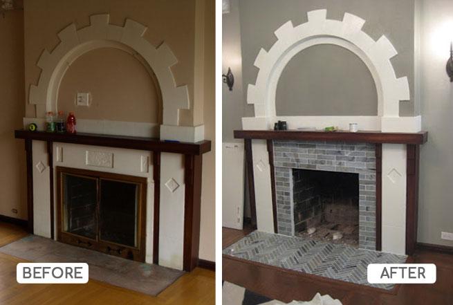 Fireplace rehab