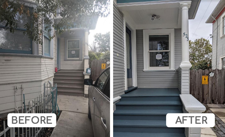 Warm gray paint for house