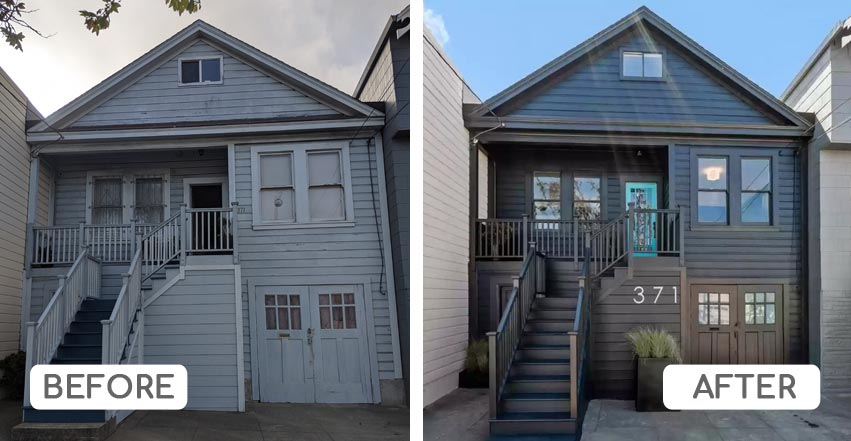 Color consultation for house in Excelsior, San Francisco